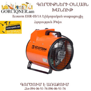 Ecoterm EHR-03/1A Էլեկտրական տաքացուցիչ 3Կվտ