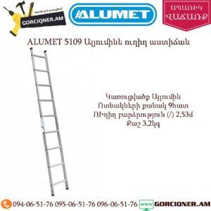 ALUMET 5109 Ալյումինե ուղիղ աստիճան