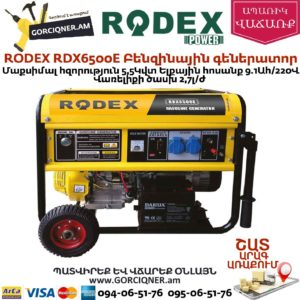 RODEX RDX6500E Բենզինային գեներատոր 5,5Կվտ